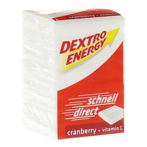 Dextro Energy Cranberry Ταμπλέτες Δεξτρόζης με Γεύση Κράνμπερι, 46gr / 8 tabs
