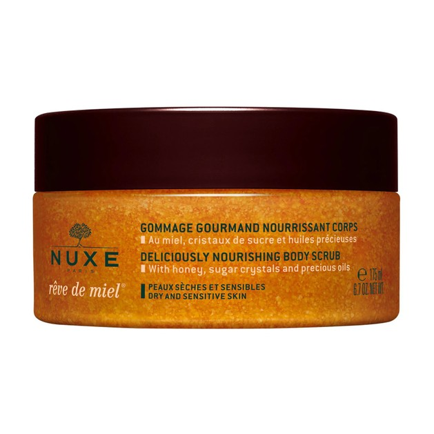 Nuxe Reve de Miel Nourishing Deliciously Body Scrub Απολαυστικό Scrub Σώματος με Μέλι,Κρυστάλλους Ζάχαρης & Πολύτιμα Έλαια 175ml