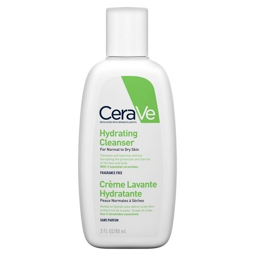 CeraVe Hydrating Cleanser Ενυδατική Κρέμα Καθαρισμού Προσώπου & Σώματος για Κανονική - Ξηρή Επιδερμίδα