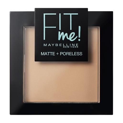Maybelline Fit Me Matte + Poreless Pressed Powder Δίνει Φυσική και Ταυτόχρονα ματ Κάλυψη 8.2gr
