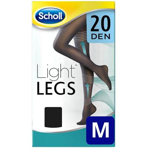 Dr Scholl Light Legs Καλσόν Διαβαθμισμένης Συμπίεσης 20 DEN Μαύρο Χρώμα 1τμχ