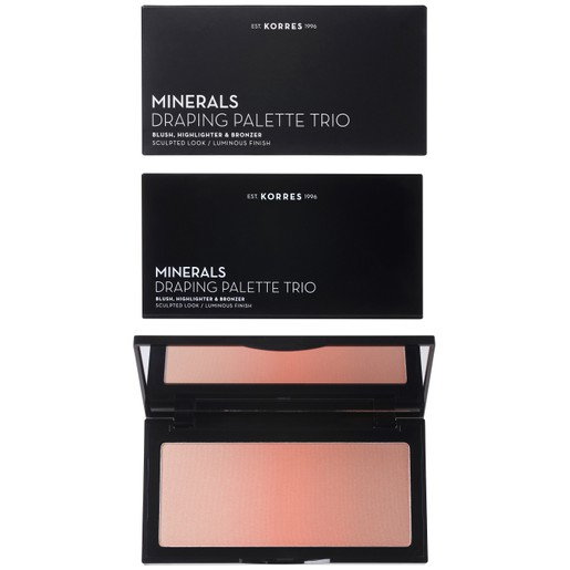 Korres Minerals Draping Palette Trio Blush, Highlighter, Bronzer 21g