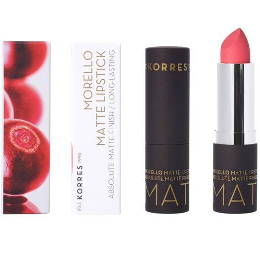 Korres Morello Matte Lipstick Κραγιόν για Απόλυτο Ματ Αποτέλεσμα & Μεγάλη Διάρκεια 3.5g