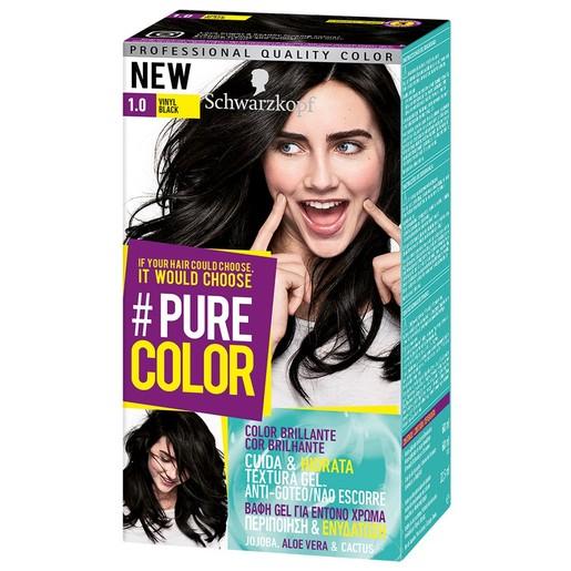 Schwarzkopf Pure Color Επαγγελματική Μόνιμη Βαφή Gel Μαλλιών, Έντονο Χρώμα που Διαρκεί, Πλούσια Περιποίηση & Ενυδάτωση