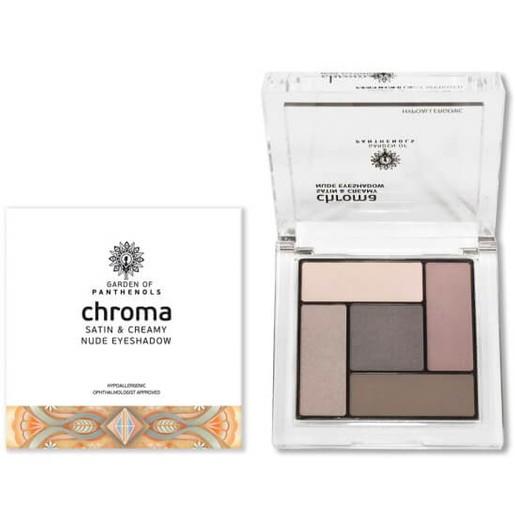 Garden of Panthenols Chroma Satin & Creamy Eyeshadow Απαλές, Μεταξένιες Σκιές 6gr