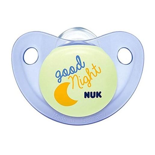Nuk Trendline Night & Day Πιπίλα Σιλικόνης που Λάμπει στο Σκοτάδι 1 Τεμάχιο