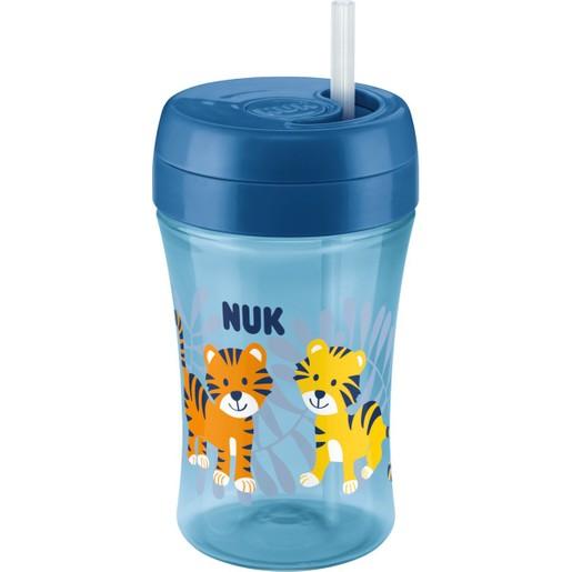 Nuk Easy Learning Fun Cup Παγουράκι Πολυπροπυλενίου με Μαλακό Καλαμάκι Σιλικόνης 18m+ 300ml