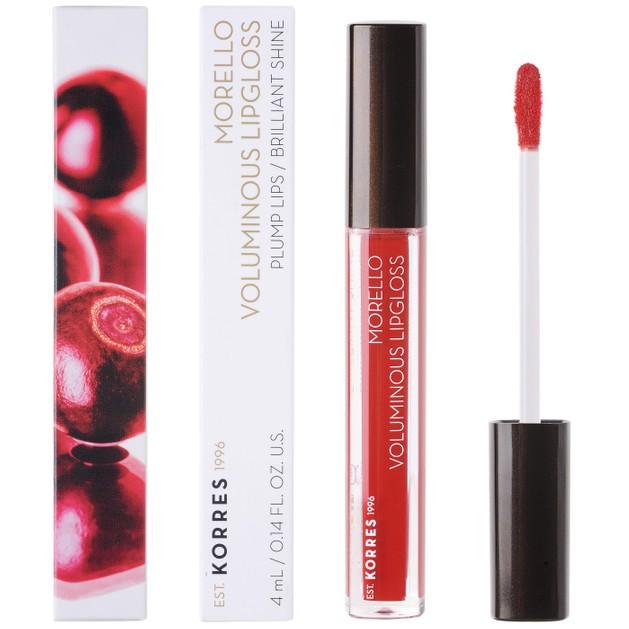Korres Morello Voluminous Lipgloss Brilliant Shine  Ενυδατικό Lipgloss με Εξαιρετική Λάμψη & Γεμάτο Χρώμα που Διαρκεί 4ml