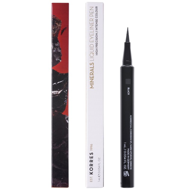 Korres Minerals Liquid Eyeliner Pen Αδιάβροχο Eyeliner για Έντονο Αποτέλεσμα & Εύκολη Ακριβή Εφαρμογή 1ml