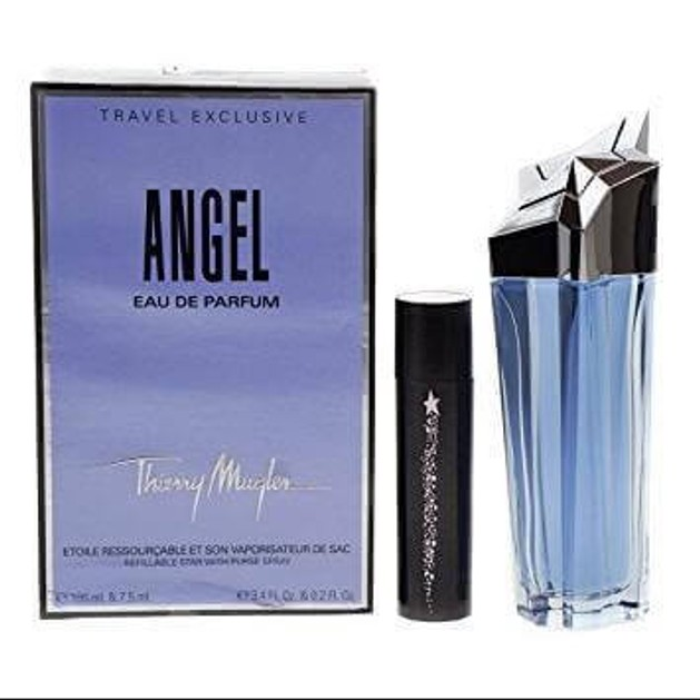 Thierry Mugler Angel Set Eau de Parfum 100ml Refillable And Purse Spray 7,5 ml