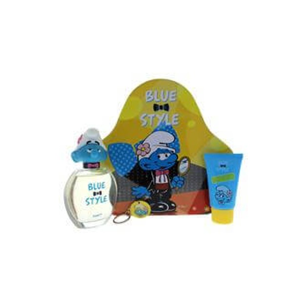 Smurfs Vanity Blue Style Set (Eau de toilette 100ml and SG 75ml and Key Chain)