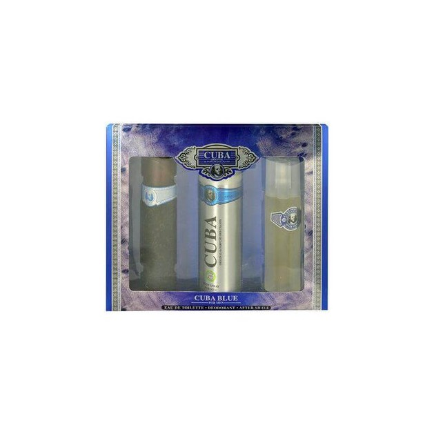 CUBA Cuba Blue eau de toilette 100ml + Deodorant Body Spray 200ml + After Shave 100ml (Gift Set)