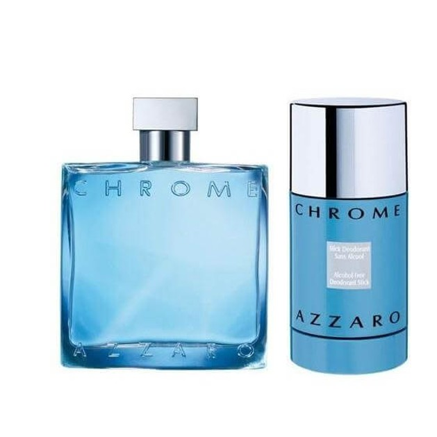 Azzaro Chrome eau de toilette 100ml + deo stick 75ml