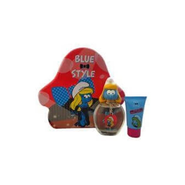 Smurfs Smurfette Blue Style Set (Eau de toilette 100ml and SG 75ml and Key Chain)
