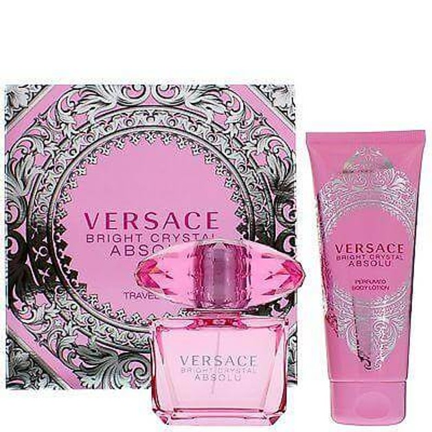 Versace Bright Crystal Absolu Travel Set Eau De Toilette 90 ml +Body Lotion 100ml