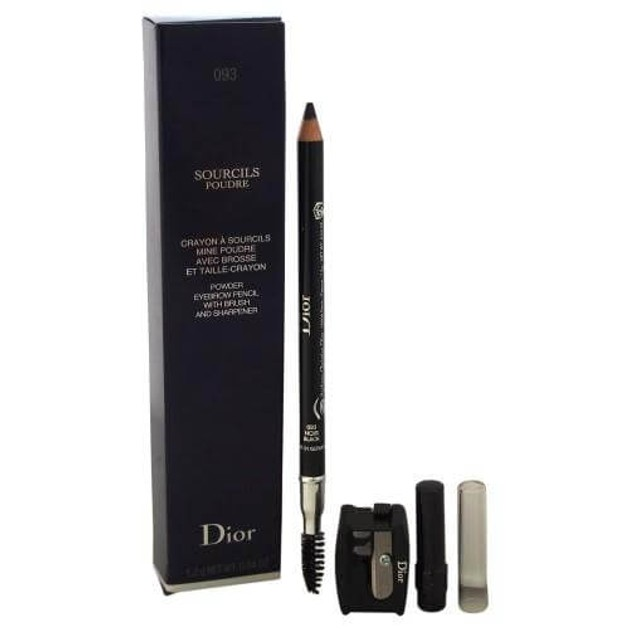 Christian Dior Sourcils Poudre Powder Eyebrow Pencil with Brush and Sharpener 093 Black