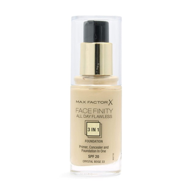 Max Factor Facefinity 33 Crystal Beige 3 in 1 Foundation 30ml  (make up)