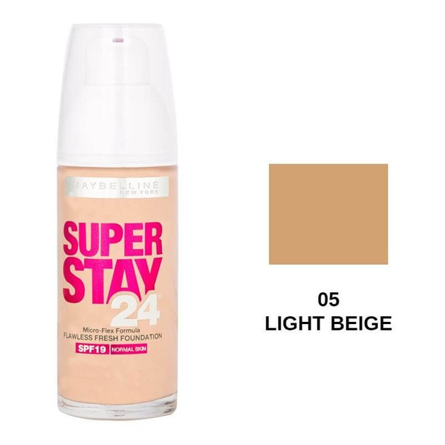 Maybelline Super Stay24 Flawless Fresh Foundation 05 Light Beige SPF19 30ml