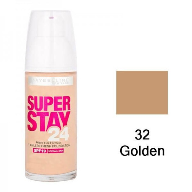 Maybelline Super Stay24 Flawless Fresh Look Foundation 32 Golden 30ml