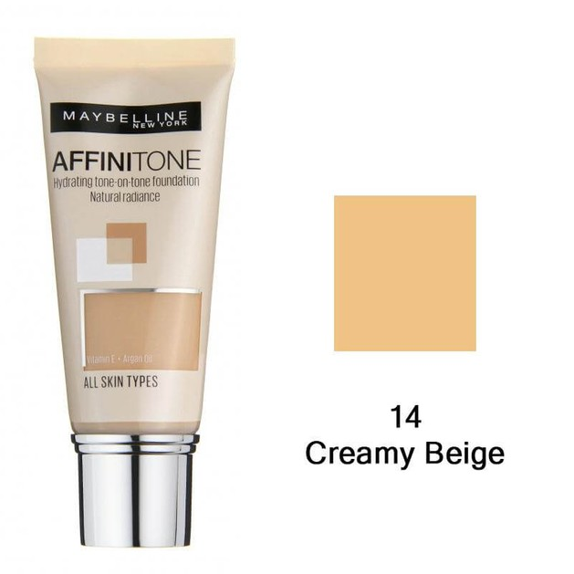 Maybelline Affinitone Hydrating tone-on-tone Foundation 14 Creamy Beige 30ml