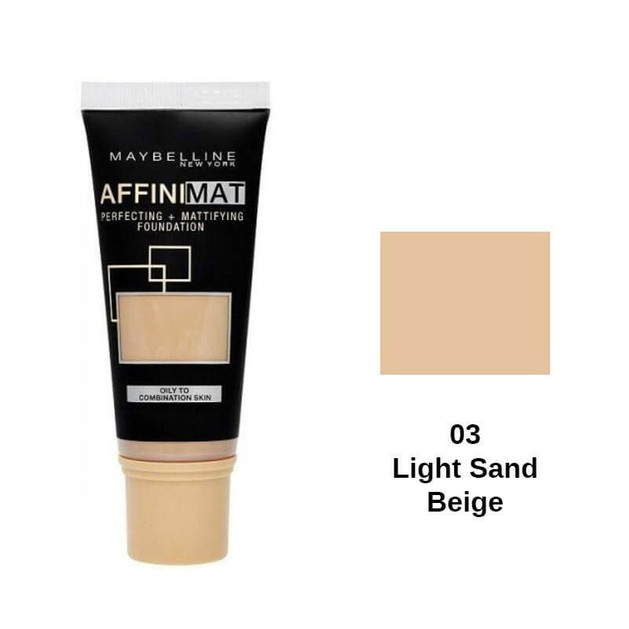 Maybelline Affinimat Perfecting and Mattifying Foundation 03 Light Sand Beige SPF17 30ml