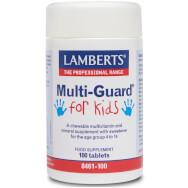 Lamberts Multi-Guard For Kids (formerly Playfair) Μασώμενη Πολυβιταμίνη για Πιαδιά Χωρίς Ζάχαρη