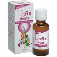 Intermed D3 Fix Drops Συμπλήρωμα Διατροφής Βιταμίνης D3 για την Κάλυψη των Αυξημένων Απαιτήσεων του Οργανισμού 30ml
