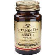 Solgar Vitamin D3 4000iu 100μg Συμβάλλει στην Απορρόφηση του Ασβεστίου και του Φωσφόρου 60caps