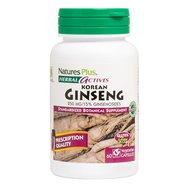 Nature's Plus Korean Ginseng 250 mg Συμπλήρωμα Διατροφής από Εκχύλισμα Τζίνσενγκ Τονωτικό Κατά της Κόπωσης 60caps