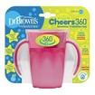 Dr Brown\'s Milestones Cheers 360ο Κύπελλο Εκπαίδευσης με Λαβές & Σύστημα Κατά των Διαρροών TC71003 Ροζ, Από 6 Μηνών 200ml