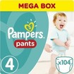 Pampers Pants No4 (8-14kg) 104 πάνες
