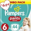 Pampers Pants Jumbo Pack No6 (15+kg) 44 πάνες