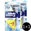 Gillette Πακέτο Προσφοράς Sensor 3 Cool Ξυραφάκια μιας Χρήσης για Αίσθηση Δροσιάς σε Κάθε Ξύρισμα 2 x 6 Τεμάχια 1+1 Δώρο