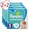 Pampers Πακέτο Προσφοράς Active Baby Carry Pack No5 (11-16kg) 4x15 Πάνες 2+2 Δώρο