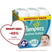 Pampers Active Baby Monthly Pack Νο4+ (10-15 kg) 152 πάνες