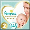 Pampers Premium Care Πάνες No 2 (4-8kg) 148 πάνες
