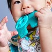Marcus & Marcus Sensory Teether Ollie Βρεφικό Μασητικό Σιλικόνης, Κρίκος Οδοντοφυΐας 5 Αισθήσεων Ελεφαντάκι από 6 Μηνών
