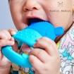 Marcus & Marcus Sensory Teether Lucas Βρεφικό Μασητικό Σιλικόνης, Κρίκος Οδοντοφυΐας 5 Αισθήσεων Ιπποπόταμος, από 6 Μηνών