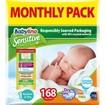 Babylino Sensitive Monthly Pack Newborn Νο1 (2-5kg) Βρεφικές Πάνες 168 τεμάχια