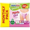 Babylino Πακέτο Προσφοράς Sensitive Pants Girl Extra Large No6 (16+kg) Monthly Pack 4x28 πάνες