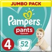 Pampers Pants Jumbo Pack No4 (9-15kg) 52 πάνες