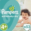 Pampers Active Baby Dry Jumbo Pack No4+ (9-16kg) 53 πάνες