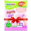 Babylino Πακέτο Προσφοράς Sensitive Pants Girl Extra Large No6 (16+kg) 4x15 πάνες 2+2 Δώρο