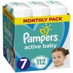 Pampers Active Baby Monthly Pack Νο7 (15+ kg) 112 πάνες