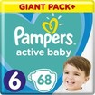 Pampers Active Baby Πάνες Giant Pack No6 (13-18 kg), 68 Πάνες