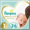 Pampers Premium Care No1 Newborn (2-5kg) 26 πάνες