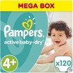 Pampers Active Baby Dry Mega Box No4+ (9-16kg) 120 πάνες
