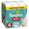 Pampers Pants Monthly Pack No4 (9-15kg) 176 πάνες