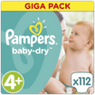 Pampers Baby Dry Giga Pack No4+ Maxi Plus (9-20kg), 112 πάνες, Μόνο 0,28€ / πάνα