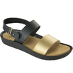 Scholl Shoes Mamore Μαύρο-Χρυσό, Γυναικεία Ανατομικά Παπούτσια, Χαρίζουν Σωστή Στάση & Φυσικό, Χωρίς Πόνο Βάδισμα 1 Ζευγάρι